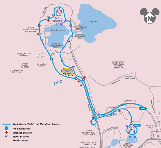 2014 walt disney world marathon weekend wdwfans 2013 walt disney world half marathon course map gumiabroncs Choice Image