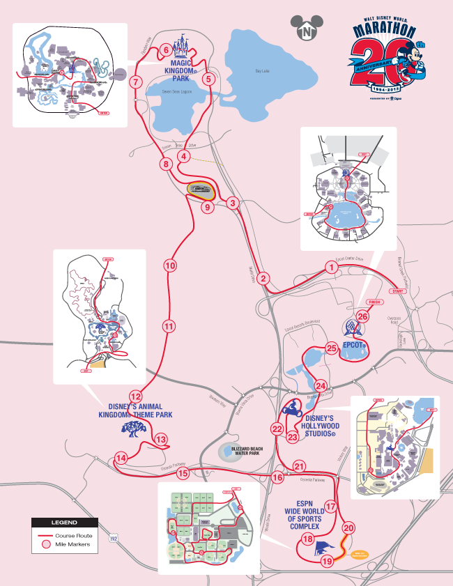 2014 walt disney world marathon weekend wdwfans walt disney world 2013 marathon course map gumiabroncs Choice Image