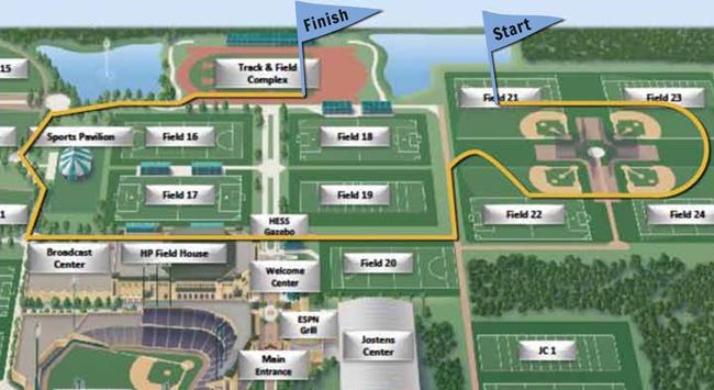2013 Walt Disney World Mickey Mile Marathon Course Map