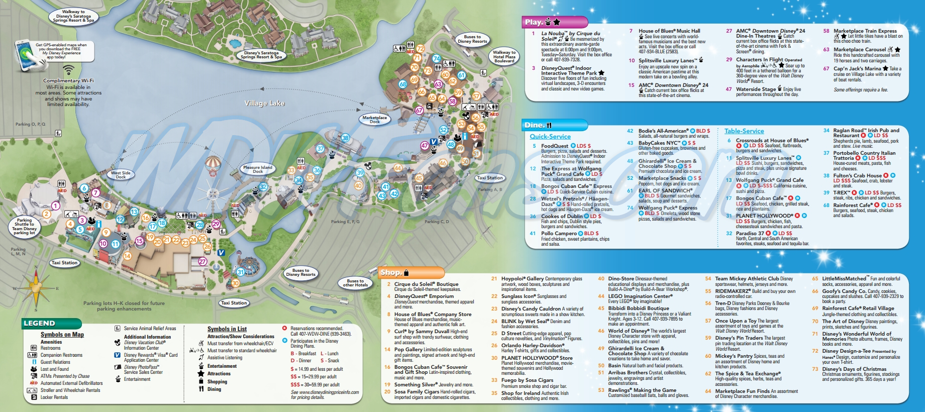 2013 Downtown Disney Map - Walt Disney World Resort Maps - WDWFans
