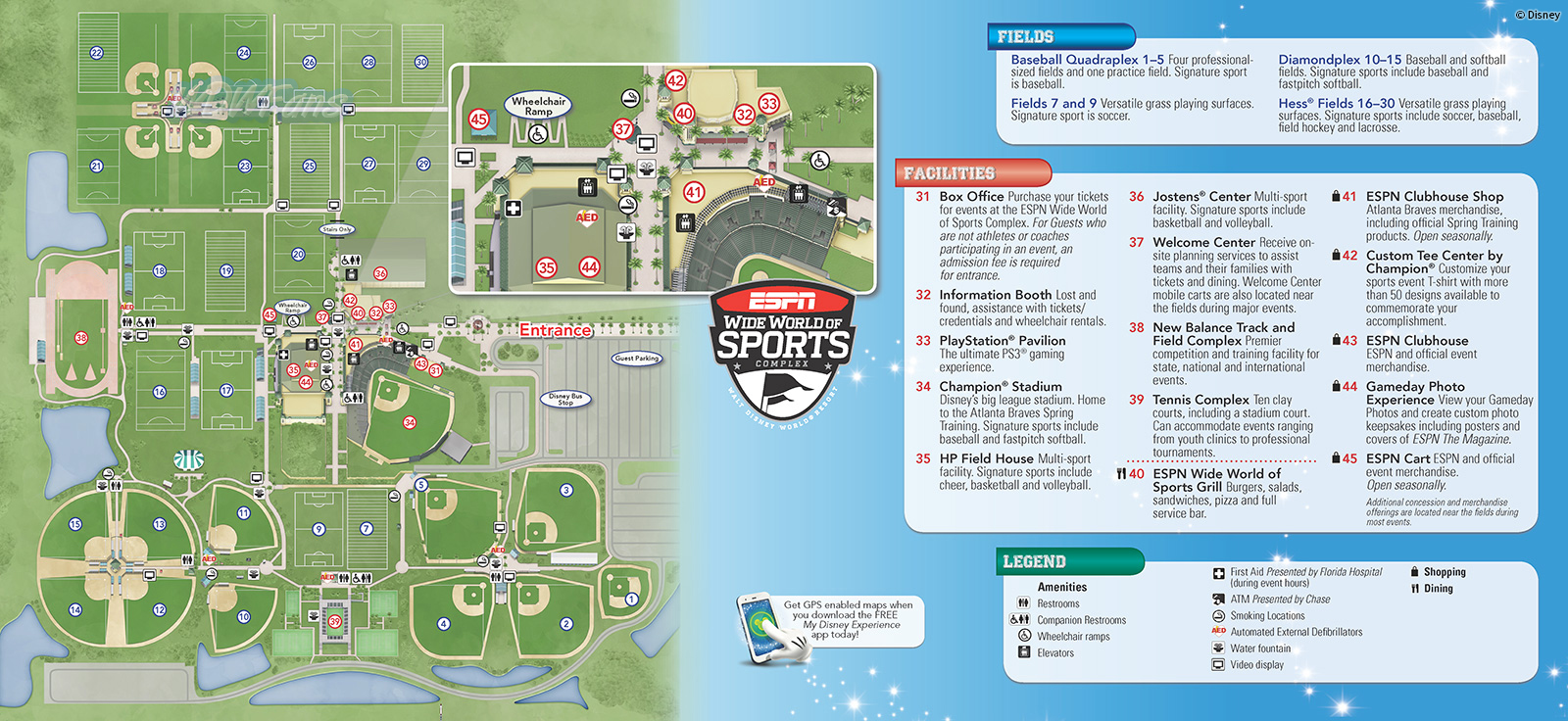 2013 ESPN Wide World of Sports Park Map