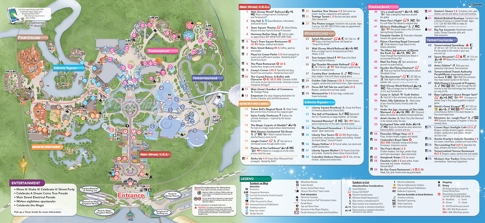 Disney Magic Kingdom Map Printable