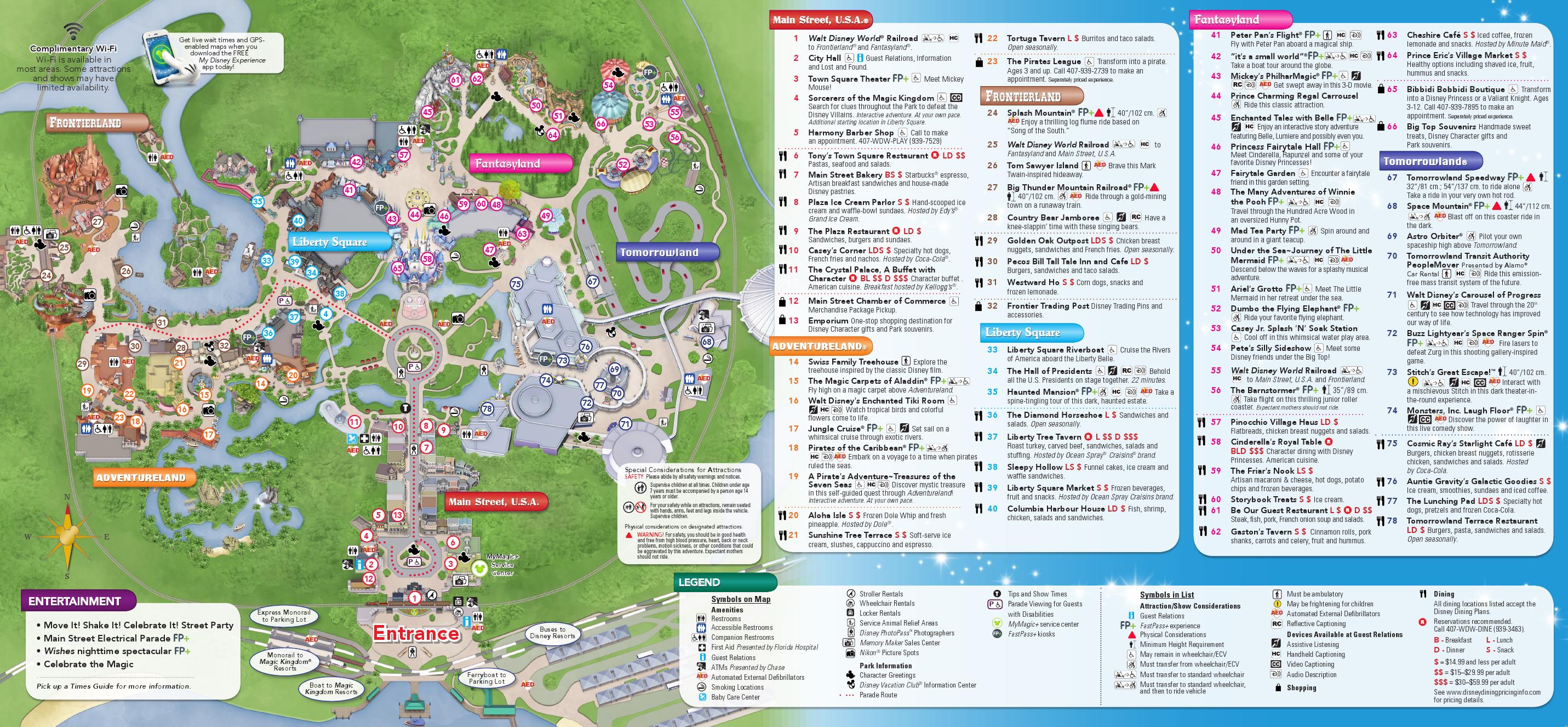 Disney Magic Kingdom Map | New Calendar Template Site