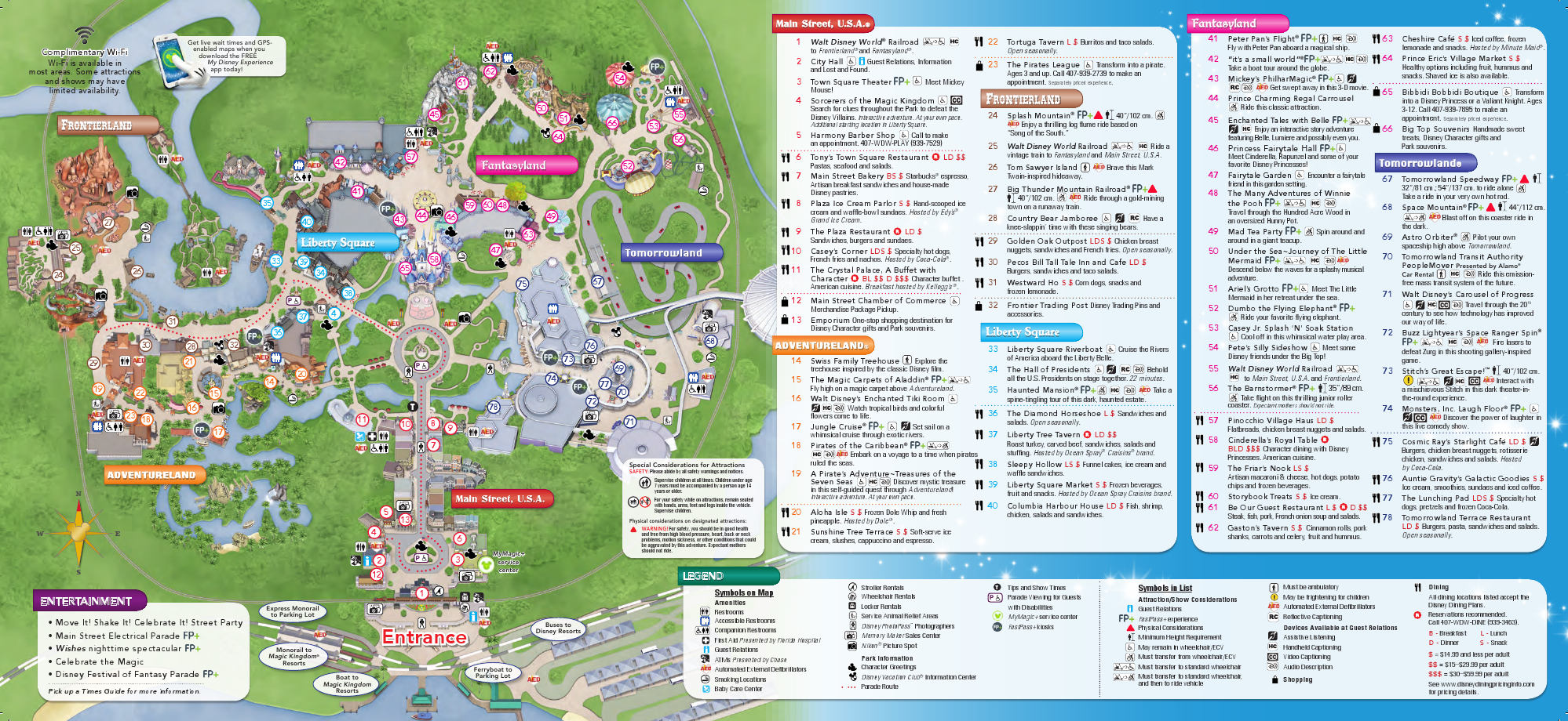 2014 Magic Kingdom Park Map - Walt Disney World Park Maps - WDWFans