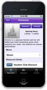 Disney World Dining Planner App