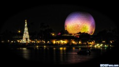 Epcot Xmas Wallpaper