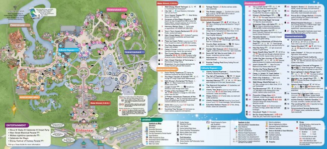 Magic Kingdom Park Map 2014 (Inner)