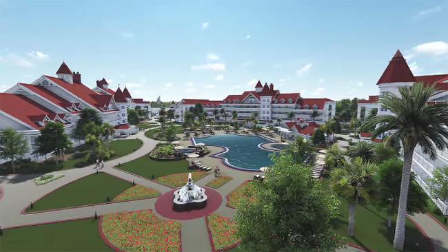 Grand Floridian Resort 3-D Floyover