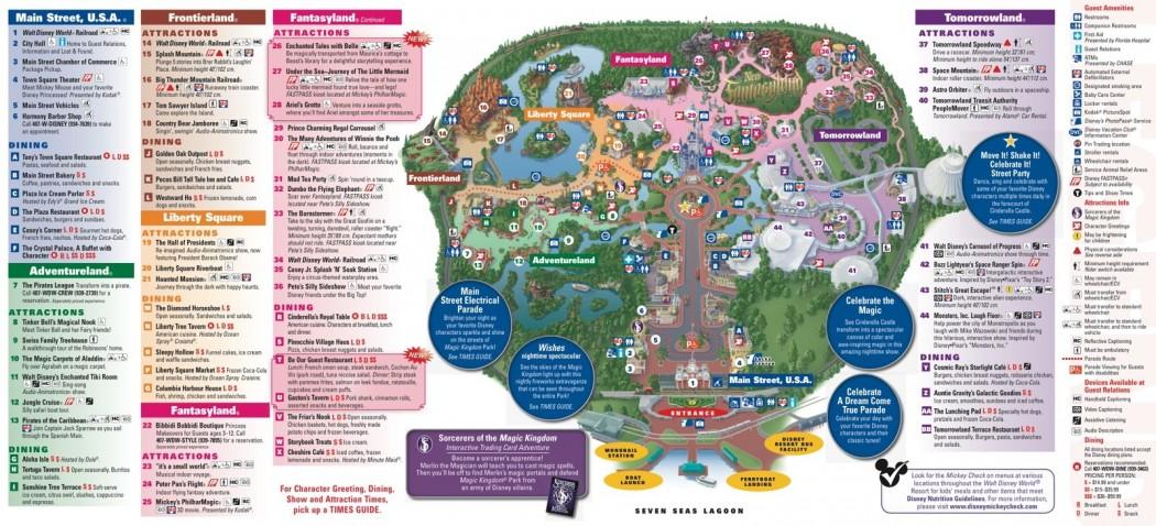Magic Kingdom Map With New Fantasyland 2013 Magic Kingdom Park Map