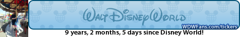 Free Disney Vacation Countdown Tickers